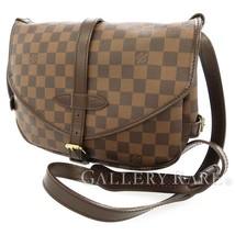 LOUIS VUITTON Saumur 30 SPO Damier Canvas Ebene N48081 Shoulder Bag Auth... - $1,035.72