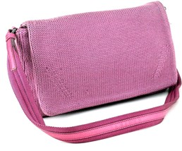 Authentic Prada Milano Hot Pink Wool & Suede Leather Shoulder Bag Purse Italy  - $147.51