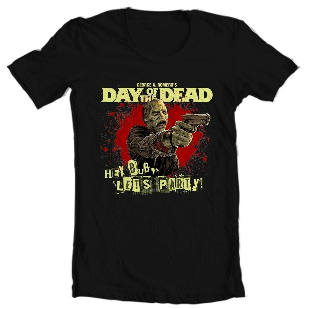"Day of the Dead ""Bub"" T Shirt retro 1980s Romero zombie horror movie graphic tee"