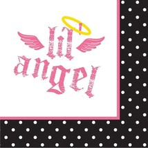 Little Lil' Angel 1st Birthday Dessert Napkins 16 Per Package Birthday New - $2.48