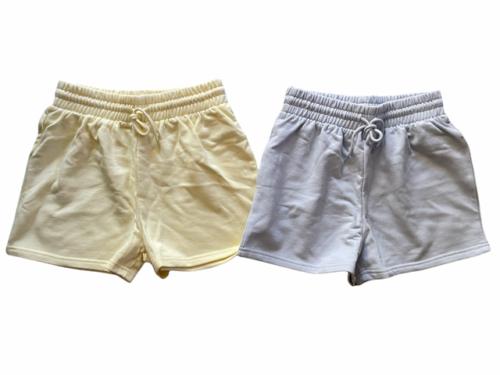 New Lot (2) Forever 21 Sweat Shorts Athletic Lounge Sleep Yellow Blue Sz S