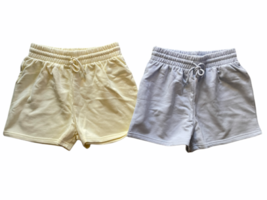 New Lot (2) Forever 21 Sweat Shorts Athletic Lounge Sleep Yellow Blue Sz S image 1