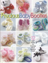 Precious Baby Booties Crochet Patterns 12 Patterns Soft Baby Yarn  - $9.00