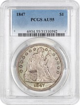 1847 $1 PCGS AU55 - Great Early Type Coin - Liberty Seated Dollar - $1,134.90