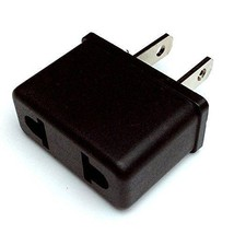 Flat Pins(2) Plug Adapter Asia/European/USA Travel 220 V to 110 V-FREE S... - €4,63 EUR