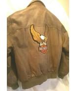 Classic Harley Davidson Brown Leather Jacket (Men's 42R) - $242.75