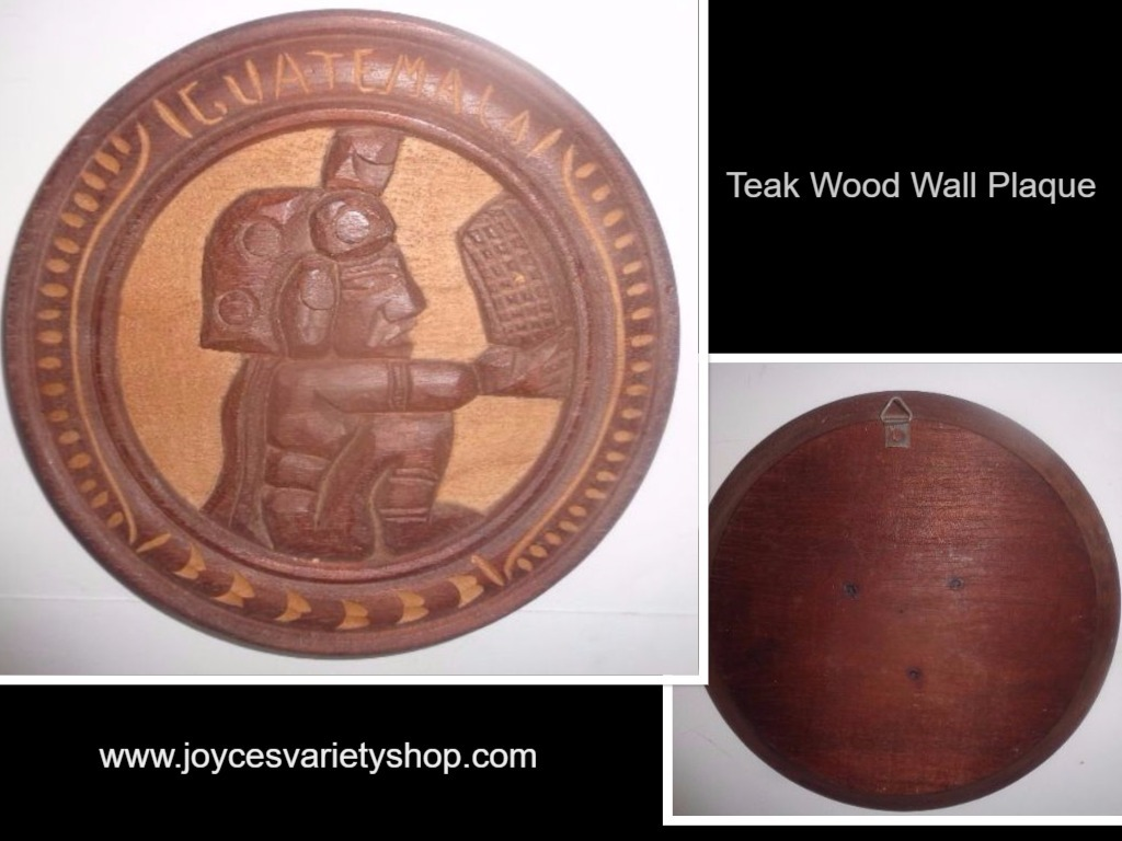 Teak wood wall plaque collage 2017 04 24