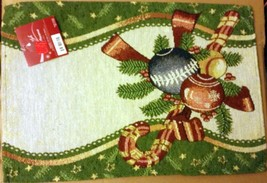"Set Of 2 Tapestry Placemats, 13"" X 19"" Christmas Theme - $9.89"