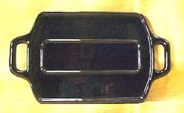 Paden City Ebony Black Glass Handled Display Tray- gemstones, Swarovski,... - $24.99