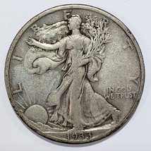 1933S Walking Liberty Half Dollar 90% Silver Coin Lot# 818-69