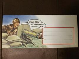 1942 WW II COLOR ILLUSTRATED SOLDIER ENVELOPE UNUSED - $18.65