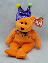 HAPPY BIRTHDAY BEAR orange 2005 TY Beanie Baby Plush Toy  (B) - $9.00
