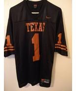 Nike Texas Longhorns Black Football #1 Jersey Large - $29.65