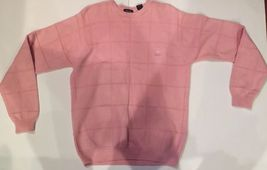 IZOD CREW Neck men's casual cotton blend PINK pullover Sweater sz SMALL - $17.95