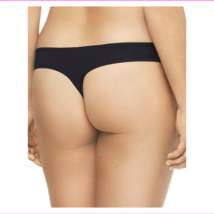 Calvin Klein Womens Plus Size Form Stretch Thong Panties Black NWT image 2