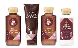 4 Pc Bath & Body Works Hot Cocoa & Cream Set- Body Cream Shower Gel Body... - $29.99