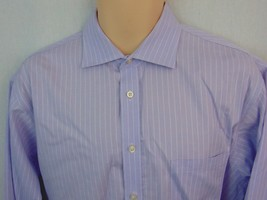 Joseph Abboud Mens Shirt 16 1/2 34 x 35 Long Sleeve Light Purple White S... - €10,54 EUR