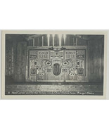 Old Kodak RPPC Postcard Carved Painted Screen Chief Shake's House, Wrang... - $14.65