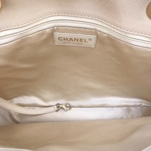 AUTHENTIC CHANEL QUILTED CAVIAR GST GRAND SHOPPING TOTE BAG BEIGE GHW image 8