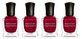 "Lot 4 Deborah Lippmann Silk Matte Nail Polish ""Red Silk Boxers"" Limited ... - $16.99"