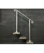 3 Foot Aluminum Stair Railing Handrail | Base Plate Posts | Aluminum Grab - $200.00
