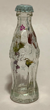 Coke Coca-Cola Mini Miniature crystal glass bottle Dried Colorful Flowers inside image 2