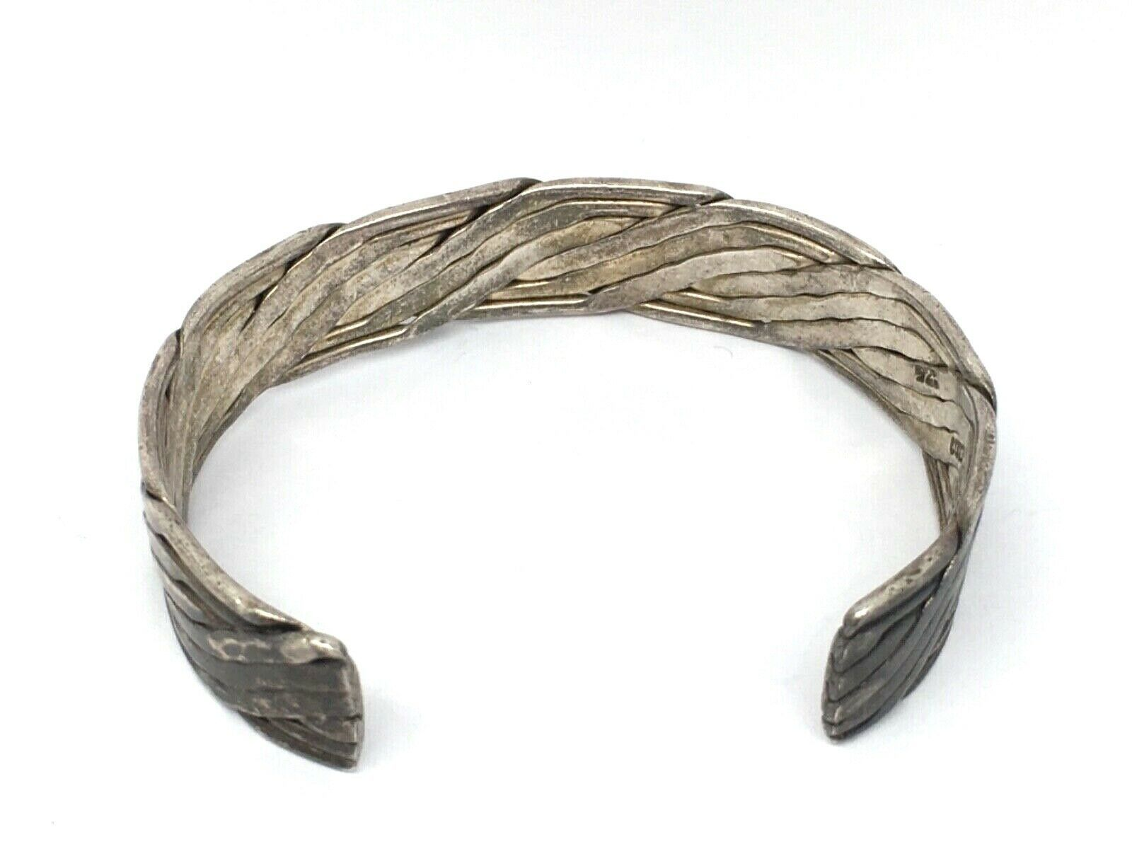 Vintage MEXICAN sterling silver handmade handcrafted cuff bracelet!!!