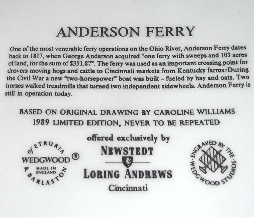 Wedgwood Anderson Ferry by Caroline Williams Plate Limit Edt Made in UK New image 2