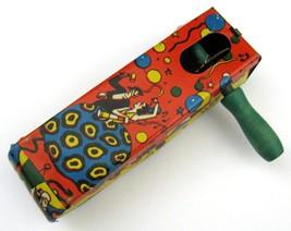 Vintage Metal Tin Noise Maker Toys Flamengo Dancer and Clowns Circus USA... - $7.87
