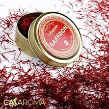 CASAROMA All Red Saffron Threads, Pure Spice for Persian Rice, Paella, Organic T