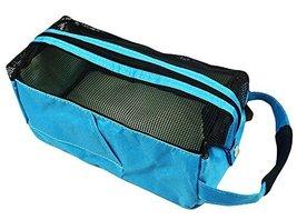 Square Bath Accessories Tote Sport Swimming Mesh Shower Bag-Blue - $15.18