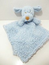 Blankets & beyond Baby Security Blanket blue sherpa puppy dog tan brown nose - $24.74