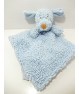 Blankets & beyond Baby Security Blanket blue sherpa puppy dog tan brown ... - $24.74