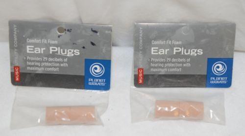 J DAdedario Planet Waves PWEP1 Comfort Fit Foam Ear Plugs Two Packages