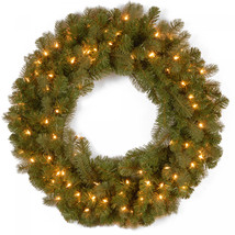 30' Downswept Douglas Wreath with Warm White LED Lights - $52.05
