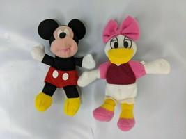 Disney Kelloggs Mini Beans Plush Mickey Mouse Daisy Duck Stuffed Animal Toy - $7.95