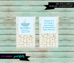 Baby Boy Umbrella Baby Shower Party  Candy Mints Mint Labels Favor Favor... - $3.50