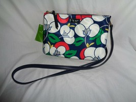KATE SPADE DAWN BREEZY FLORAL TRIPLE GUSSET CROSSBODY HANDBAG BLASE BLUE... - $84.15