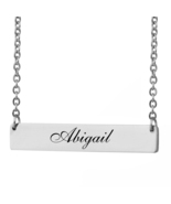 Custom Any Name Bar Necklace Christmas Mother Day Gift for Abigail - $9.99+