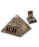 Ebros Bronzed Ancient Egyptian Gods & Deities Pyramid Jewelry Box Figuri... - $18.80