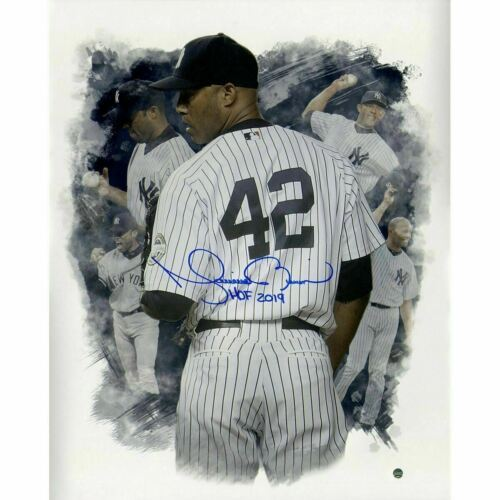 "Primary image for Mariano Rivera Signed NY Yankees 16x20 ""HOF 2019"" Career Montage Steiner."