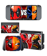 Nintendo Switch Console Joy-Con Skin Deadpool vs Deathstroke Vinyl Decal... - $9.00