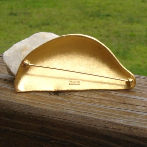Vintage Crown Trifari© Lemon Slice Brooch, Yellow Enamel