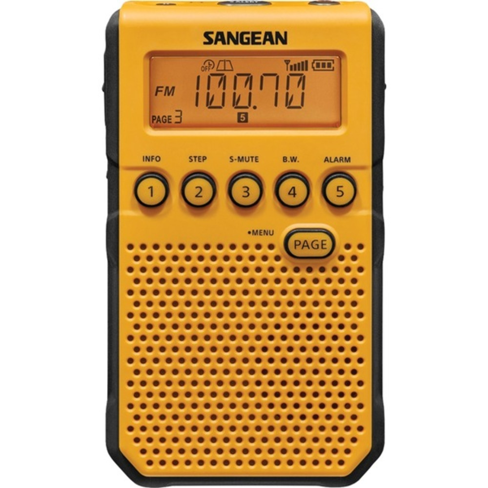 Primary image for Sangean DT-800YL AM/FM Weather Alert Pocket Radio (Yellow)