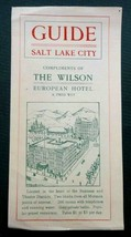 antique WILSON EUROPEAN HOTEL fred wey RATES $1-$3 SALT LAKE CITY GUIDE ... - $67.95