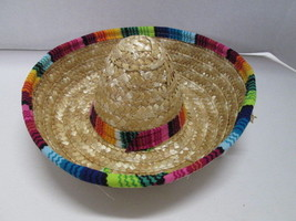 Dog Straw Sombrero Fiesta Mexican Halloween Costume Hat - $9.85