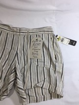 Supplies Women Origami Nordstorm Stretch White Gray Striped Shorts Mini ... - $15.88