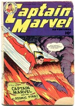 Captain Marvel Adventures #122 1951- Fawcett Golden Age reading copy - $35.31