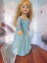 "homemade 18"" doll/madame alexander disney frozen elsa silver dress doll ... - $15.84"