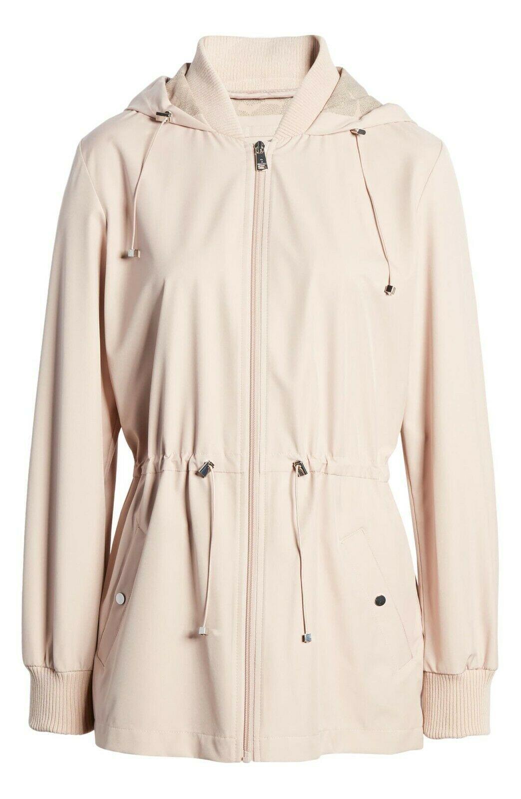 Bernardo Womens Lt Pink Wind Proof Water Resistant Breathable Raincoat Jacket XL